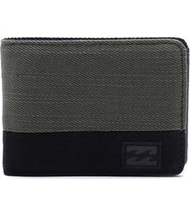 billetera dimension twill verde billabong