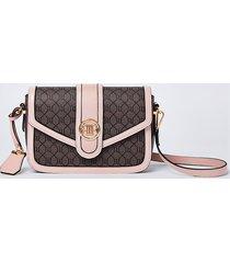 river island womens brown ri monogram satchel bag