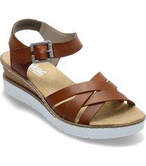 v3863-24 shoes summer shoes flat sandals brun rieker