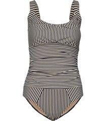 md holi vintage bathingsuit unwired badpak badkleding blauw marlies dekkers