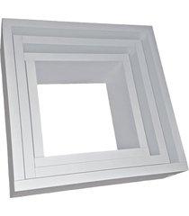 conjunto de 3 nichos organibox quadrados branco