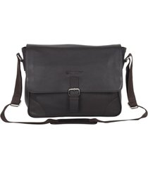 "ben sherman karino leather crossbody 15"" computer messenger bag"
