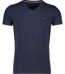 t-shirt tommy hilfiger donkerblauw v-hals