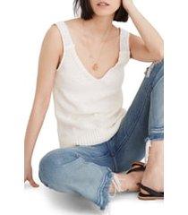 women's madewell crochet strap sweater tank