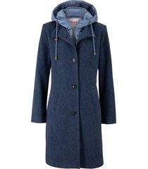 cappotto corto in misto lana 2 in 1 (blu) - john baner jeanswear