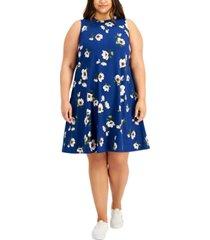 bcx trendy plus size floral-print a-line dress