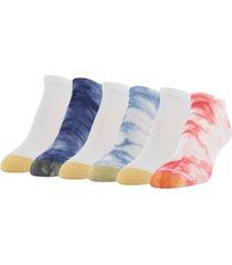 gold toe women's american tie dye 6pk liner socks