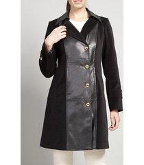 abrigo terciopelo negro vintage liola