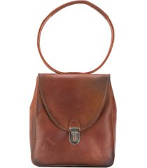 cherevichkiotvichki hoop handle tote bag - brown