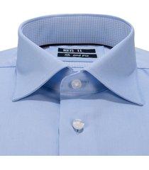 recall shaped fit overhemd met lange mouwen blauw
