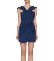 'caliber' crossover strap mini asymmetric dress