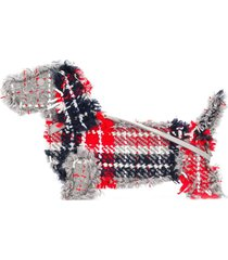 thom browne oversized tartan hector clutch - red
