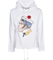 lanvin printed hoodie