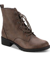 sun + stone frannie lug sole combat booties, created for macy's women's shoes