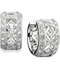 "eliot danori crystal accent 1/2"" huggie earrings, created for macy's"