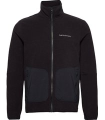 m tech soft zip fells view sweat-shirts & hoodies fleeces & midlayers svart peak performance