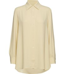 long crepe shirt overhemd met lange mouwen geel filippa k