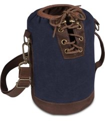 legacy by picnic time insulated navy & brown growler tote