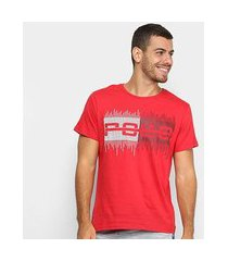 camiseta polo rg 518 estampa relevo masculina