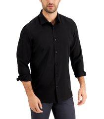 alfani men's micro texture shirt, created for macy's