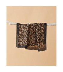 lenço estampado - lenço bolívia cor: preto - tamanho: único