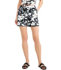 inc floral-print shorts, created for macy's