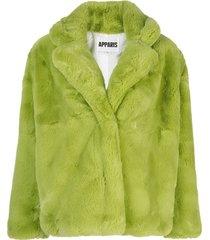 apparis manon short coat - green