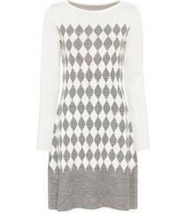 abito in maglia a quadri (bianco) - bodyflirt boutique