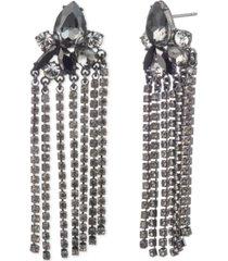 givenchy hematite-tone linear chain drop earrings