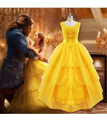 adult beauty and the beast princess belle yellow cosplay fancy dress costume