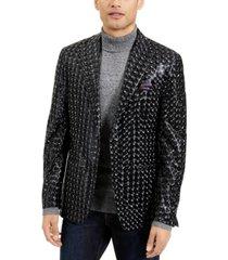 tallia men's shiny 3d sport coat
