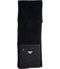 prada shaker knit scarf