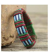 men's wristband bracelet, 'kente discovery' (ghana)