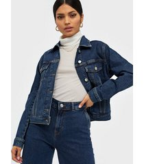 selected femme slfstory spruce blue denim jacket w jeansjackor