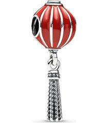 charm de prata esmalte pendente lanterna chinesa
