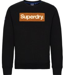 cl workwear crew sweat-shirt tröja svart superdry