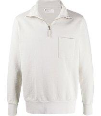 universal works half-zip sweatshirt - neutrals