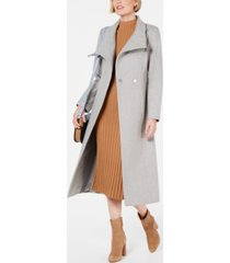kenneth cole asymmetrical belted maxi coat