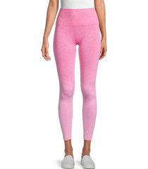 electric yoga women's charge-up leggings - hot pink - size m/l