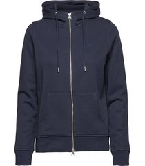 tonal shield full zip hoodie hoodie trui blauw gant