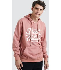 buzo hoodie shoot color rosado, talla m