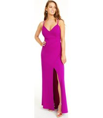 jump juniors' lace-up back gown