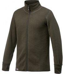woolpower vest unisex full zip jacket 600 pine green-xs
