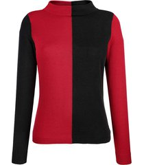 trui alba moda rood/zwart