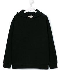andorine textured hoodie - black