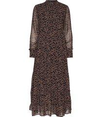 selina long dress maxi dress galajurk bruin soft rebels