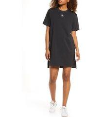women's adidas t-shirt dress, size medium - black
