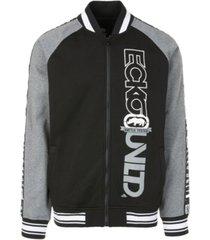 ecko unltd men's vert printed take varsity jacket