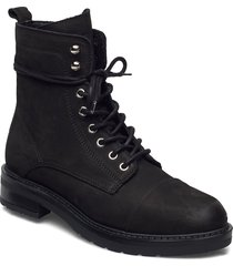 charley eco shoes boots ankle boots ankle boot - flat svart pavement