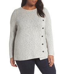 plus size women's nic+zoe shape up top, size 1x - grey